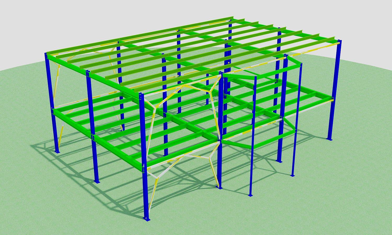 Проект спортзала 14x18м (Каркас, фундаменты)