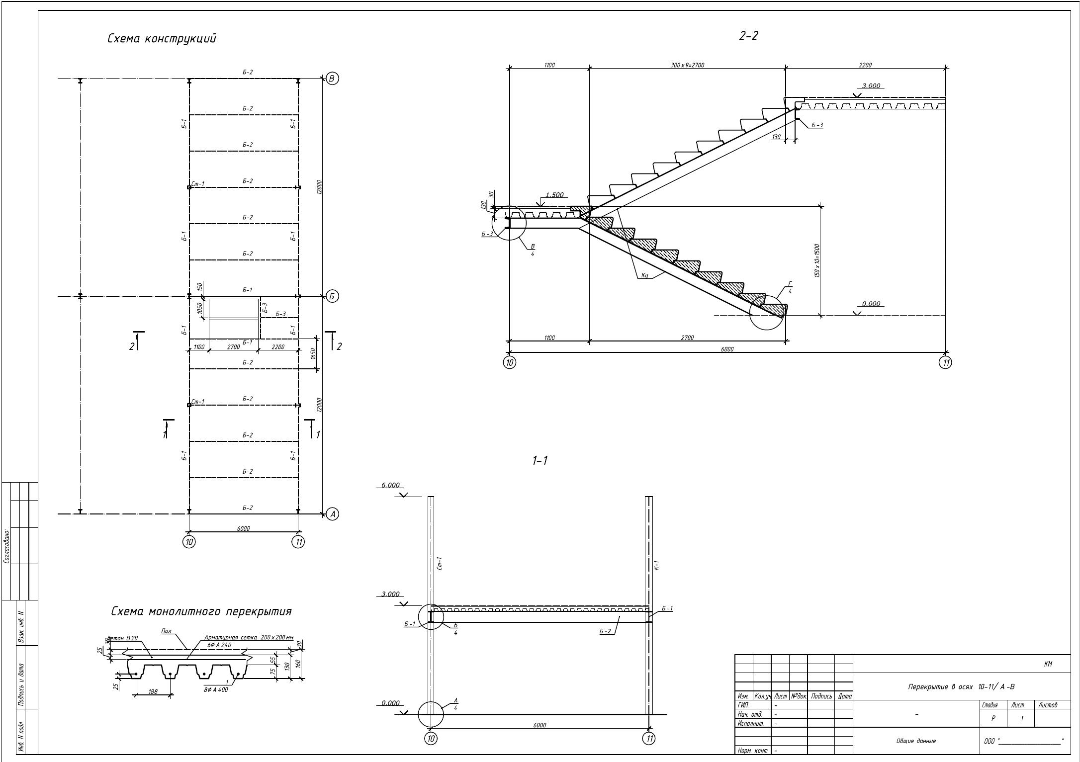 Схема конструкций