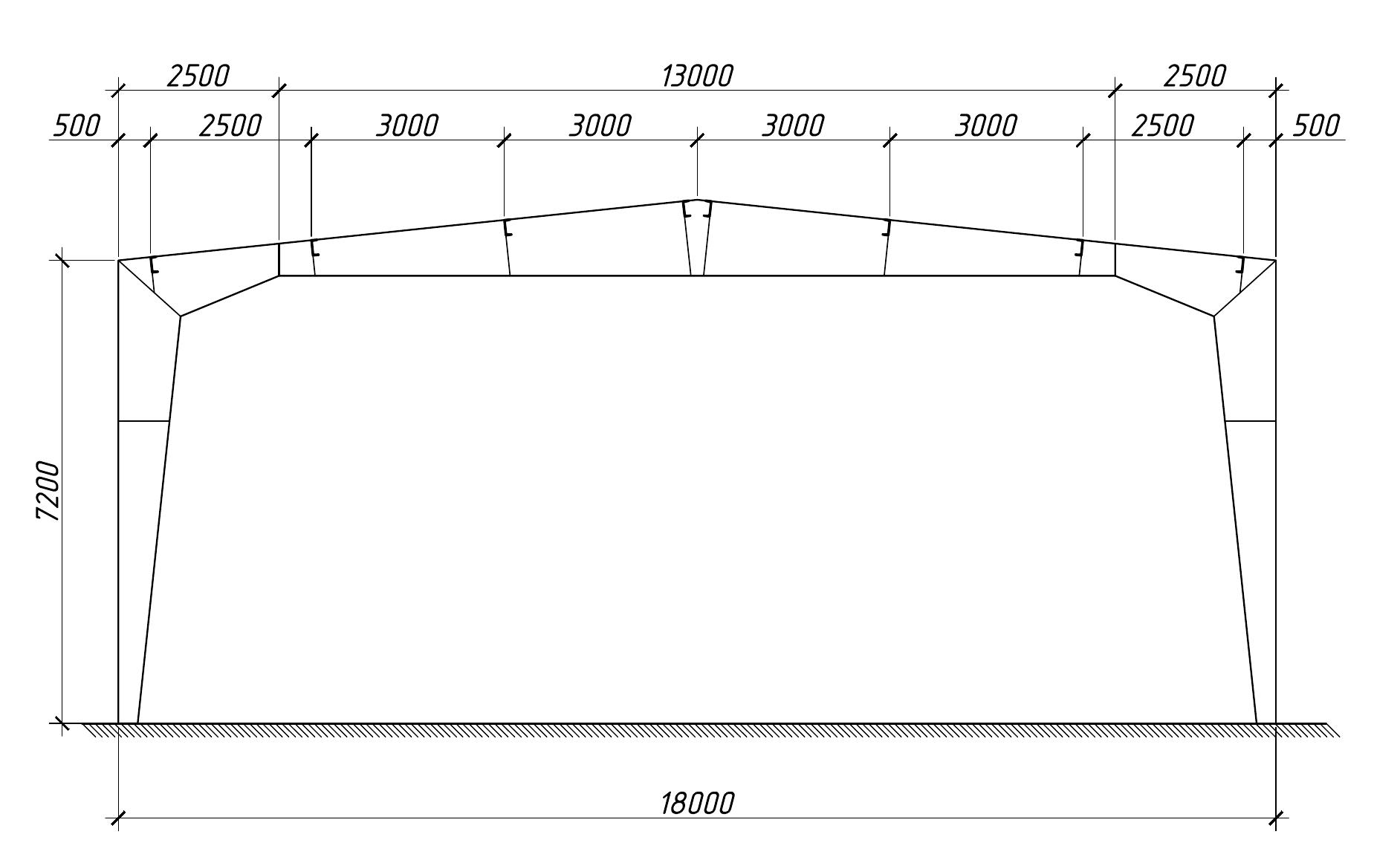 Проектирование стального каркаса вариант 5